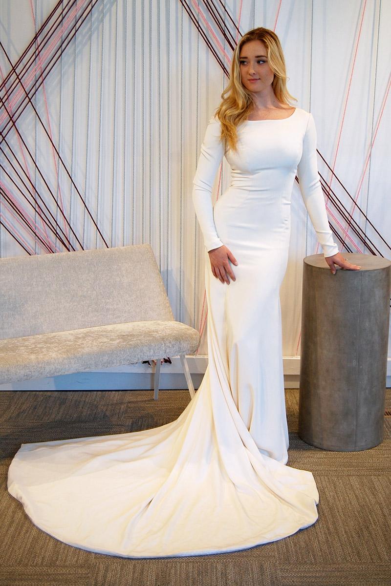 Stretch Silk Crepe Mermaid With Long Sleeves: Silk Mermaid Wedding Dress Sleeves At Reisefeber.org